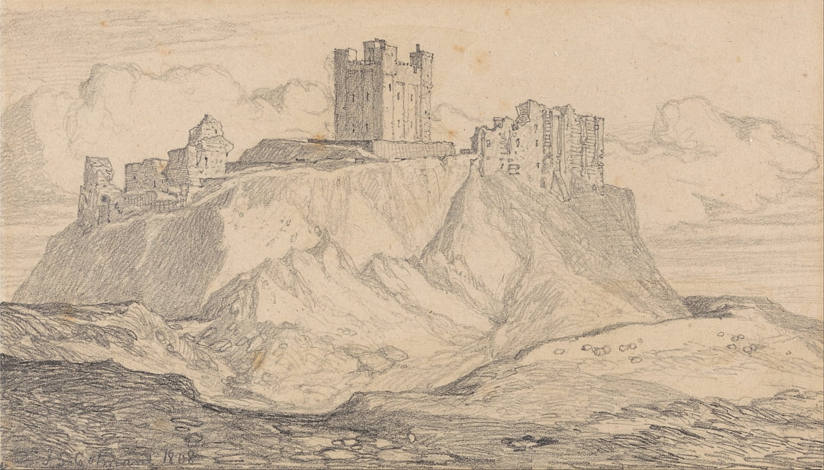 Bamborough Castle, Northumberland by John Sell Cotman