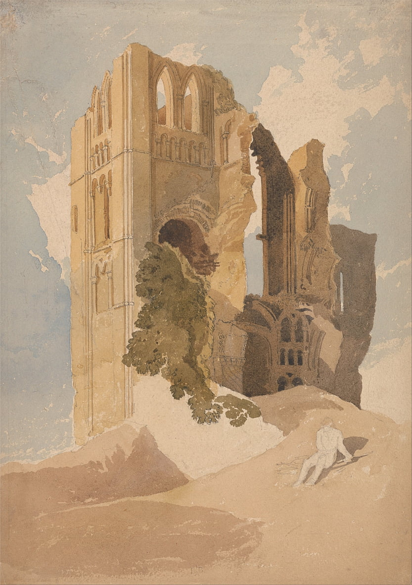 Castle Acre Priory, Norfolk by John Sell Cotman