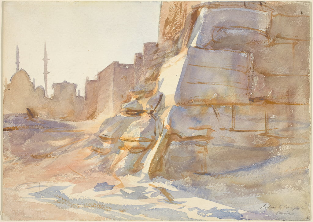 Cairo, c.1891 (watercolour over graphite on wove paper) by John Singer Sargent