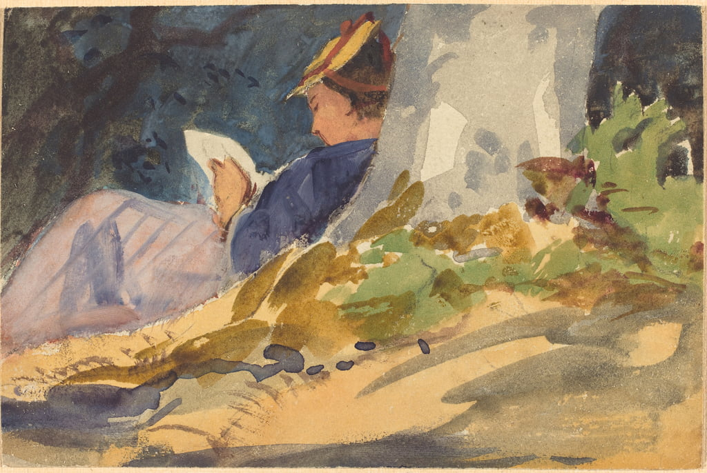 Resting, c.1880-1890 (watercolour over graphite on wove paper) by John Singer Sargent