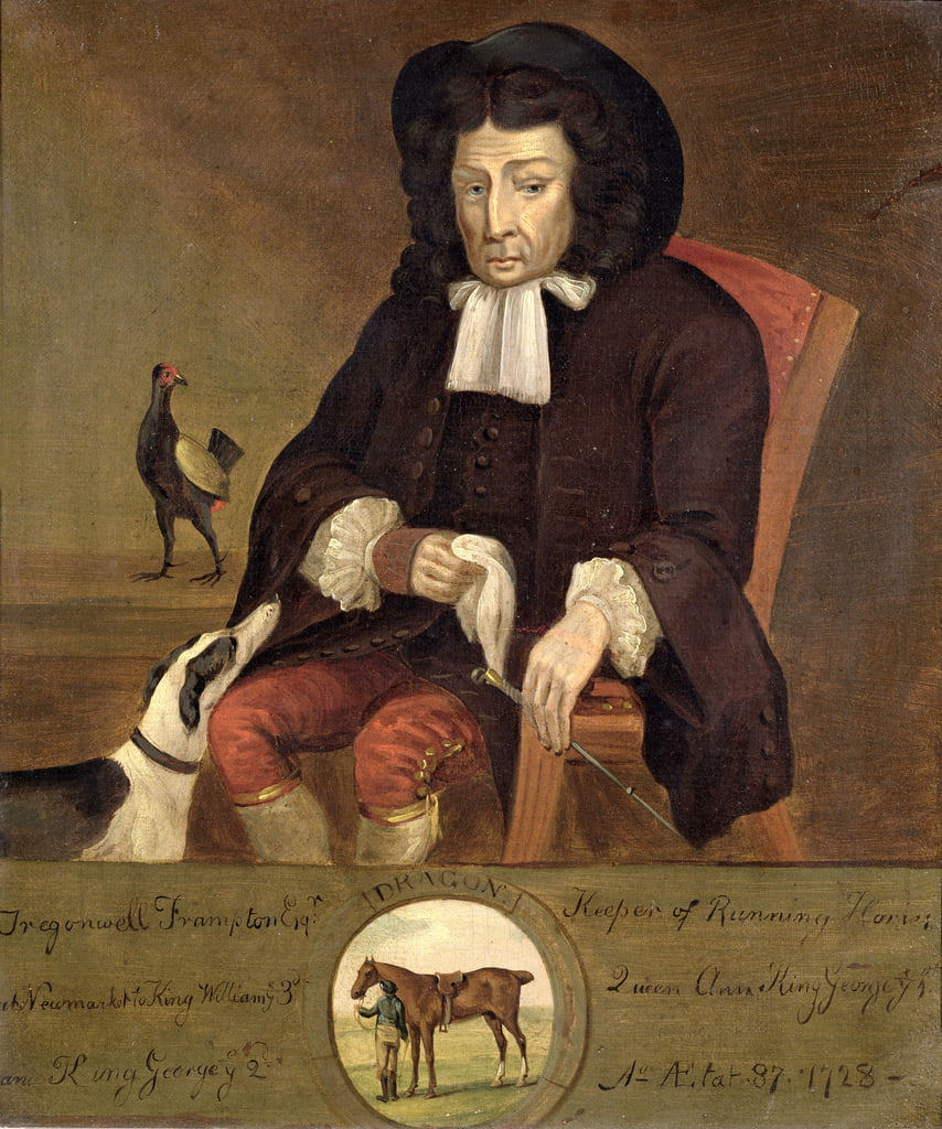 Tregonwell Frampton (1641-1727) Father of the Turf, 1728  by John Wootton