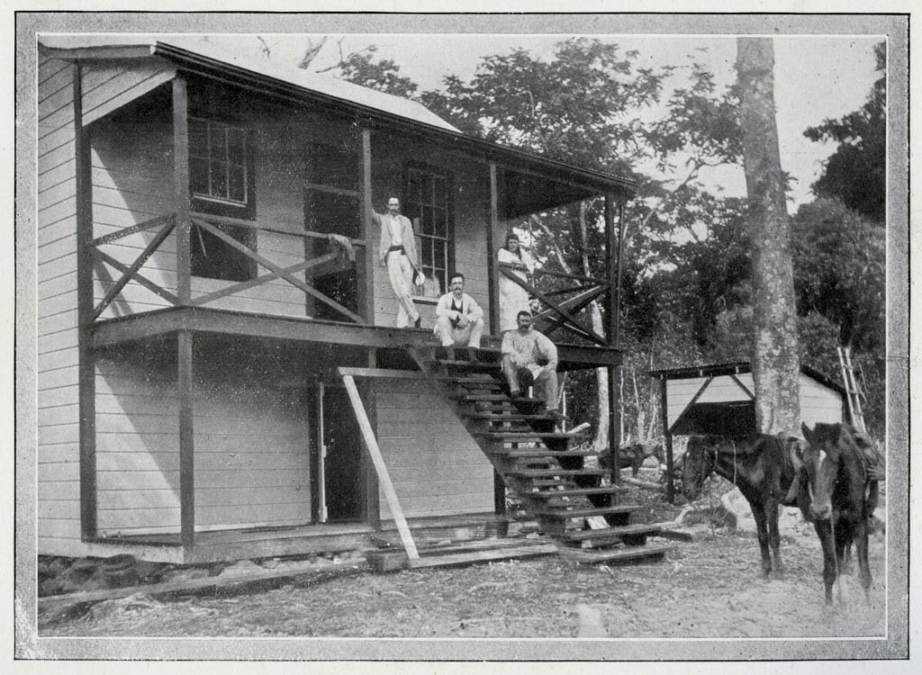 Robert Louis Stevenson and his wife, Fanny, om the verandah of their house at Vailima, Samoa, c. 1892  by John of Apia Davis