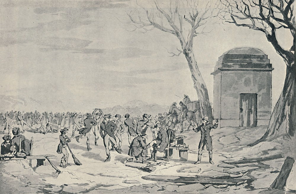 Skating in Hyde Park, 1807, 1920 by John Augustus Atkinson