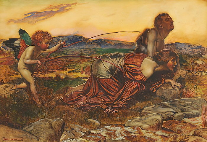 Cupid Driving the Lovers, 1913  by John Byam Liston Shaw