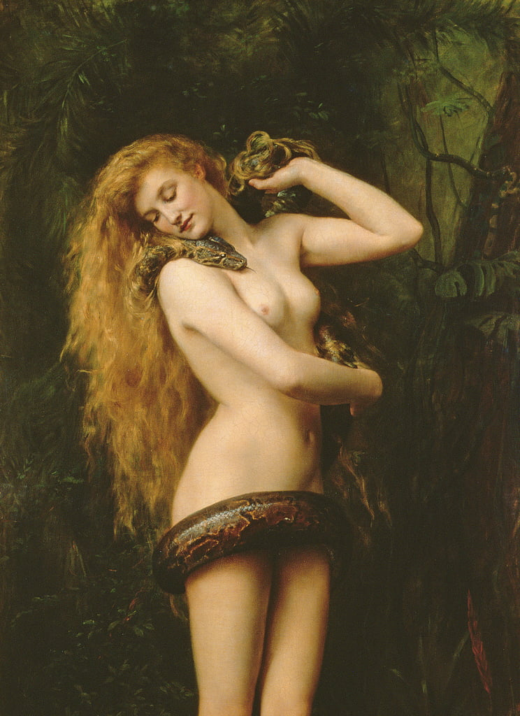 Lilith, 1887 oil on canvas detail of 125798 by John Collier