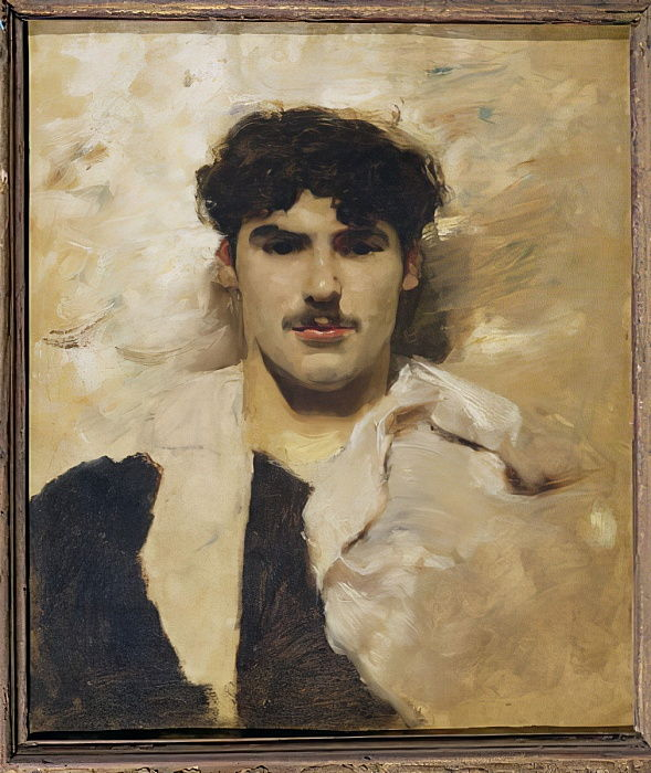 Head of a Gondolier by John Singer Sargent