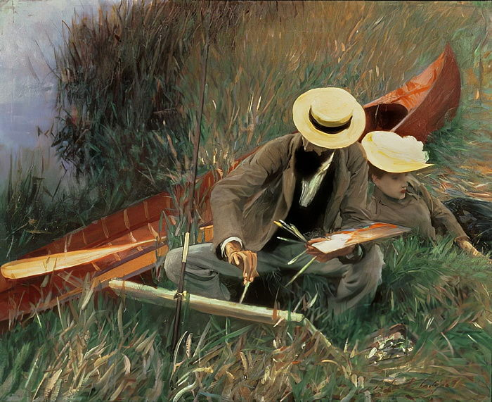 Paul Helleu Sketching his Wife, 1889  by John Singer Sargent