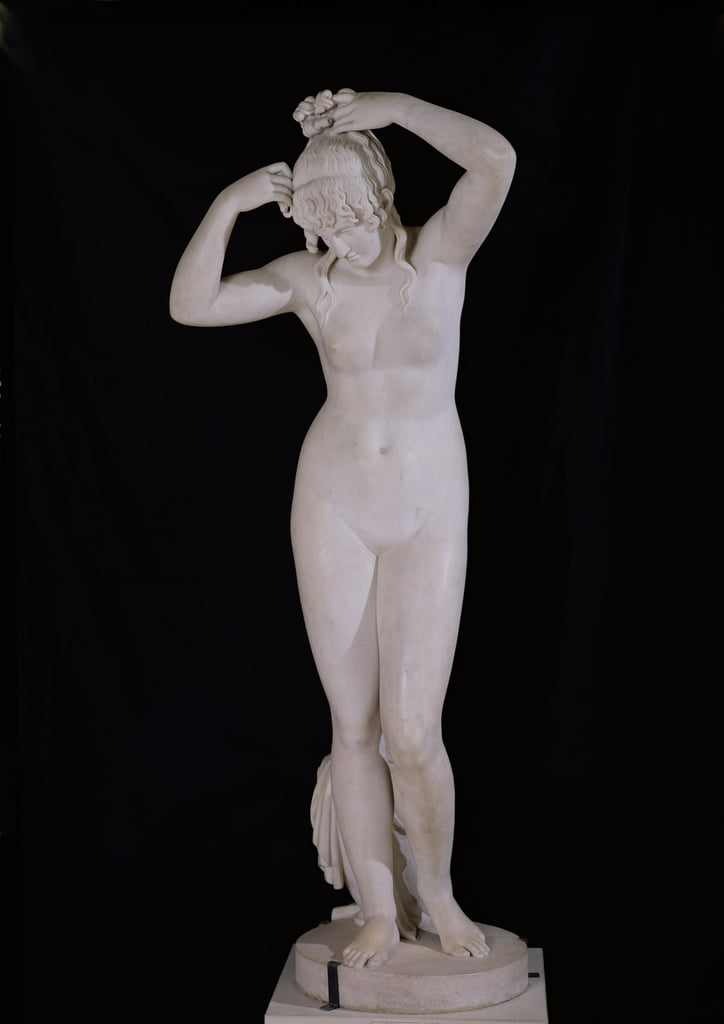 The Bather, 1808 (marble) by Joseph Charles Marin