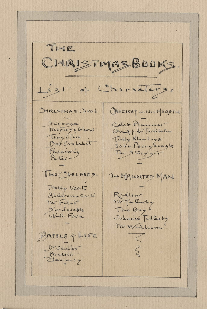 List of Characters, c.1920s (pen und ink with wc on paper) by Joseph Clayton Clarke