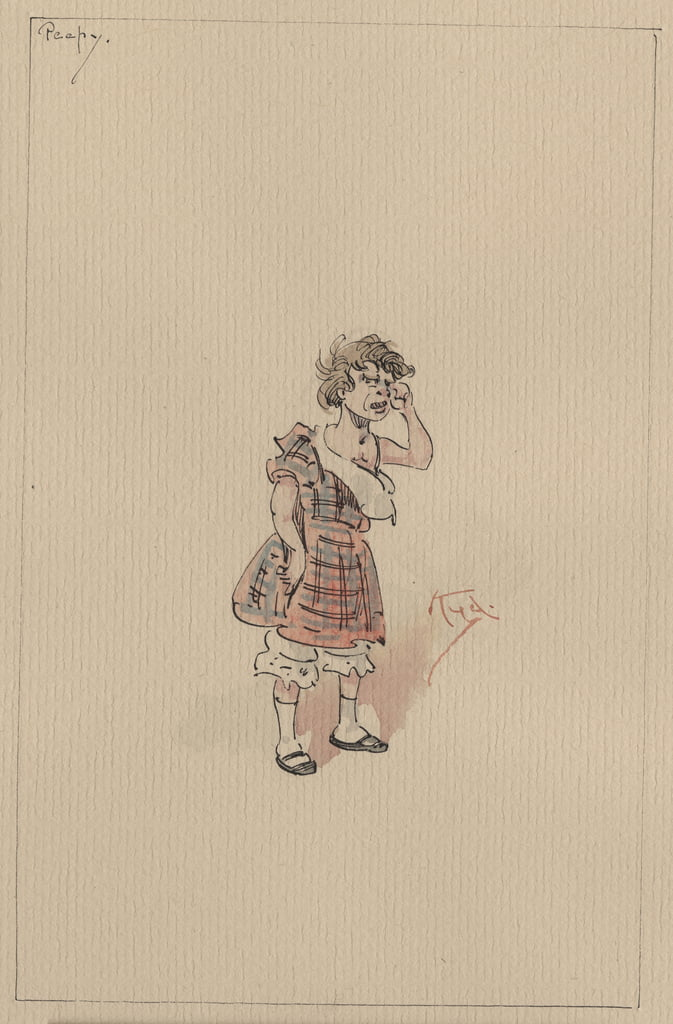 Peepy, c.1920s (pen und ink with wc on paper) by Joseph Clayton Clarke