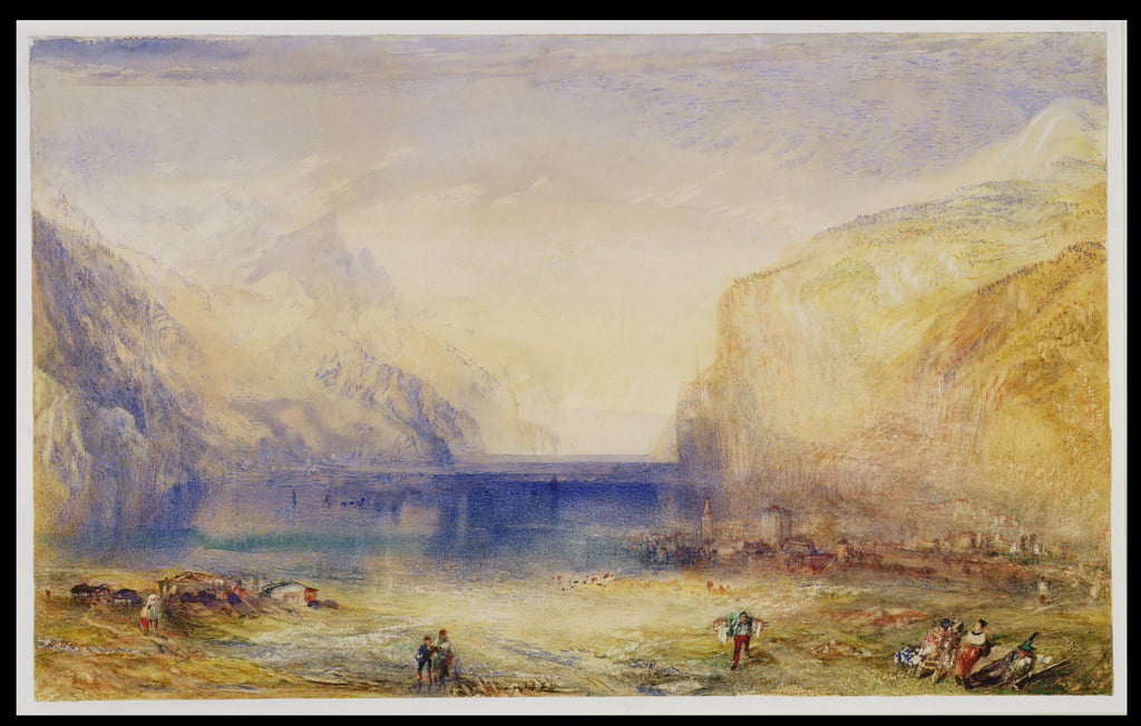 Fluelen: Morning (looking towards the lake) 1845 (wc and gouache with scratching out on wove paper) by Joseph Mallord William Turner