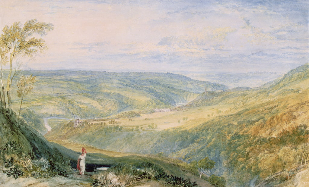 Gibside, County Durham from the South  (see 155786 for pair) by Joseph Mallord William Turner
