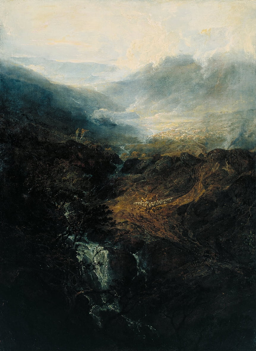 Morning amongst the Coniston Fells, Cumberland by Joseph Mallord William Turner