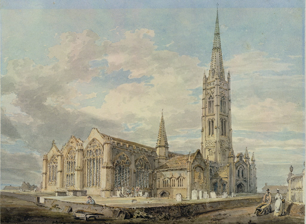 North-east View of Grantham Church, Lincolnshire, c.1797 (wc over graphite on paper) by Joseph Mallord William Turner