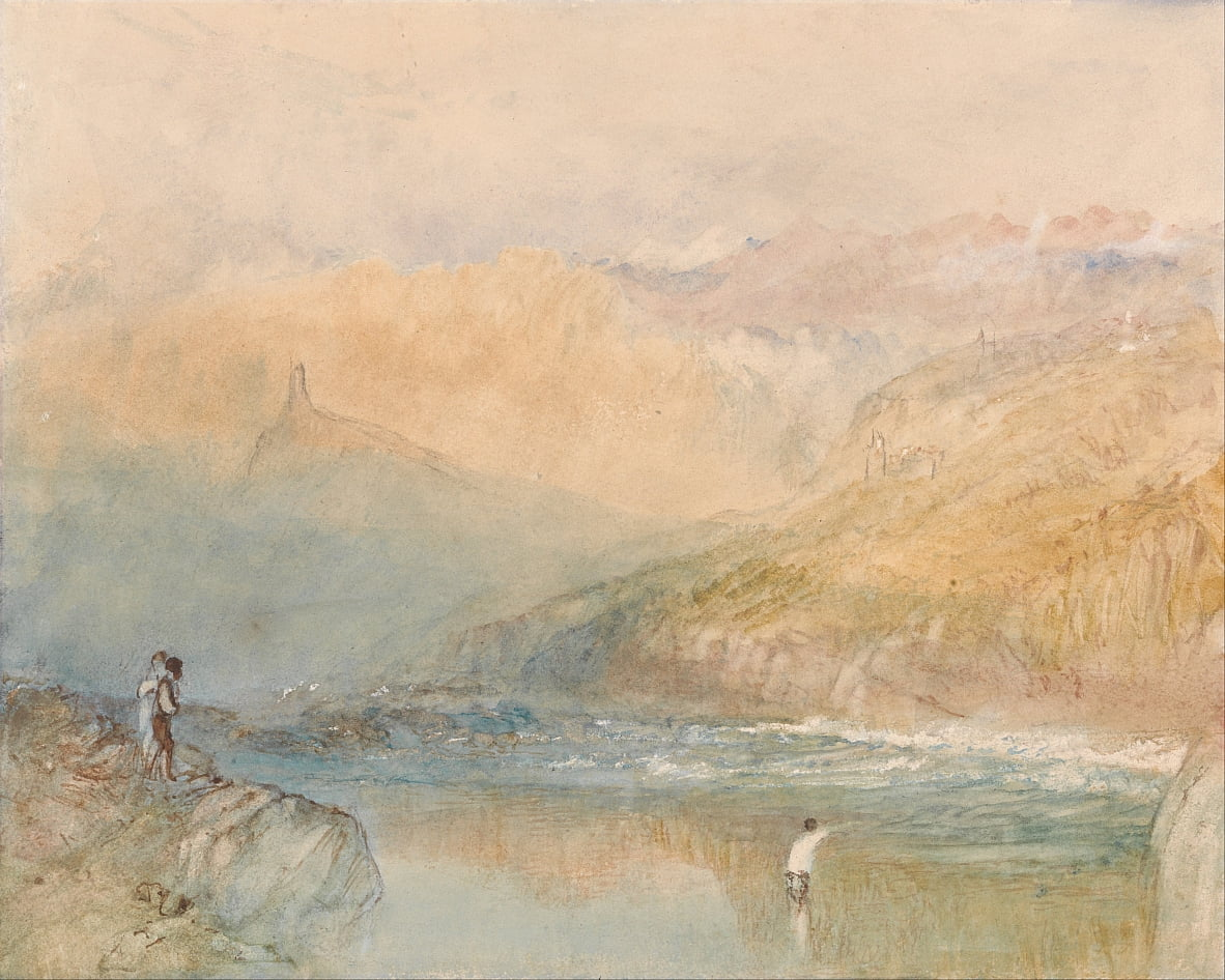 On the Mosell, Near Traben Trarbach by Joseph Mallord William Turner
