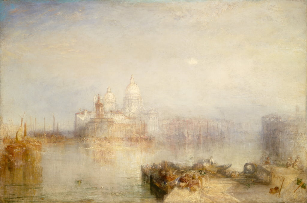 The Dogana and Santa Maria della Salute, Venice, 1843  by Joseph Mallord William Turner