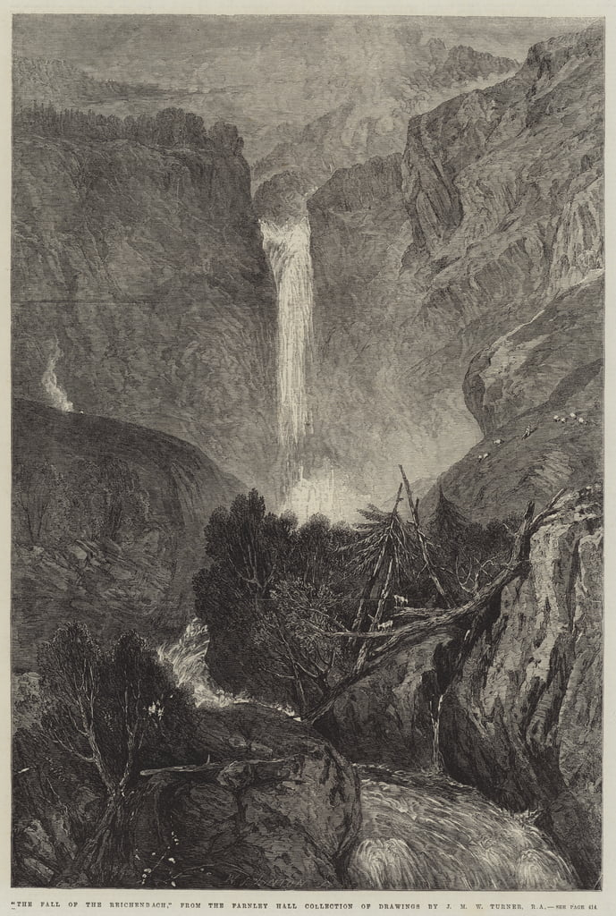 The Fall of the Reichenbach  by Joseph Mallord William Turner