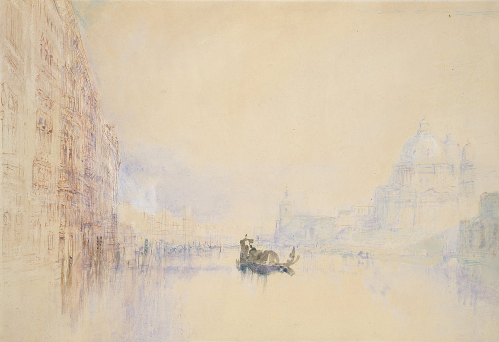 Venice: the Grand Canal, 1840 (watercolour over graphite with bodycolour and pen and red ink) by Joseph Mallord William Turner