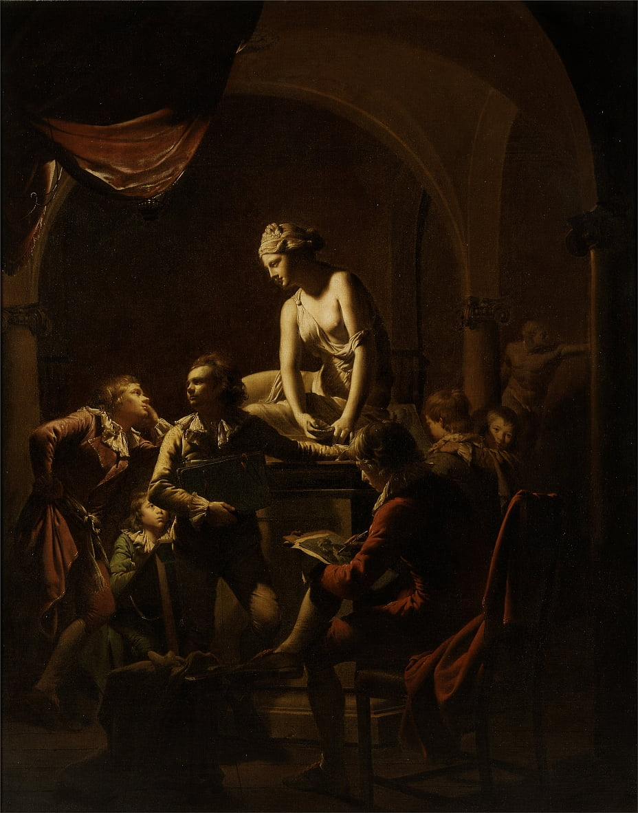 Academy by Lamplight by Joseph Wright of Derby