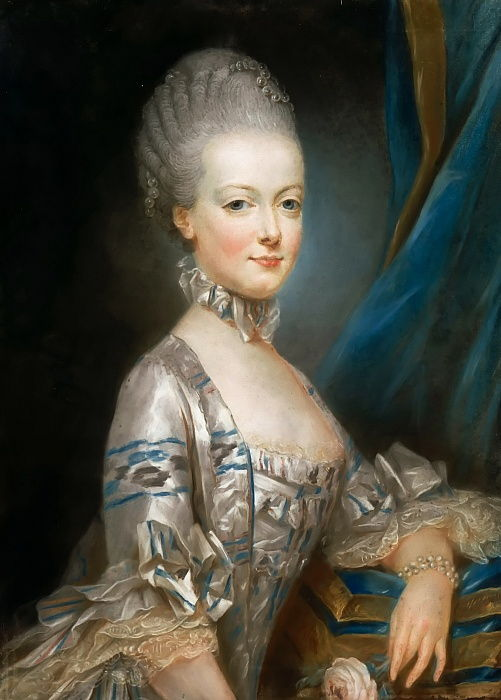 Portrait of Archduchess Maria Antonia of Austria 1755-1793, the later Queen Marie Antoinette of Fr  by Joseph Ducreux