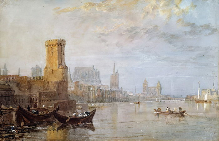 Cologne on the Rhine  by Joseph Mallord William Turner