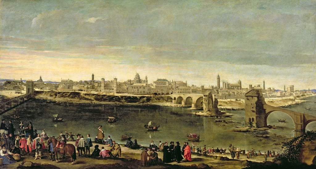 View of the City of Zaragoza  by Juan Bautista Martinez Del Mazo