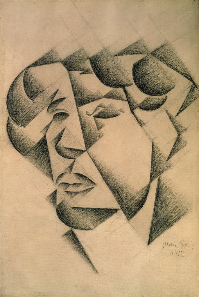 Self Portrait, 1912 (charcoal on paper) by Juan Gris