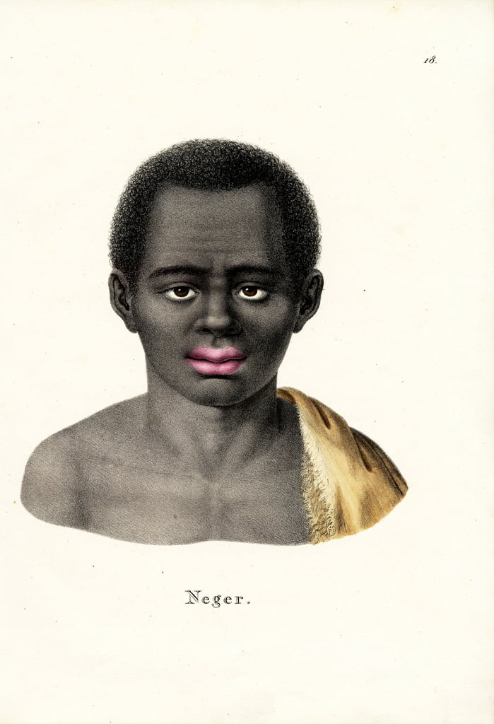 Black Man, 1824  by Karl Joseph Brodtmann