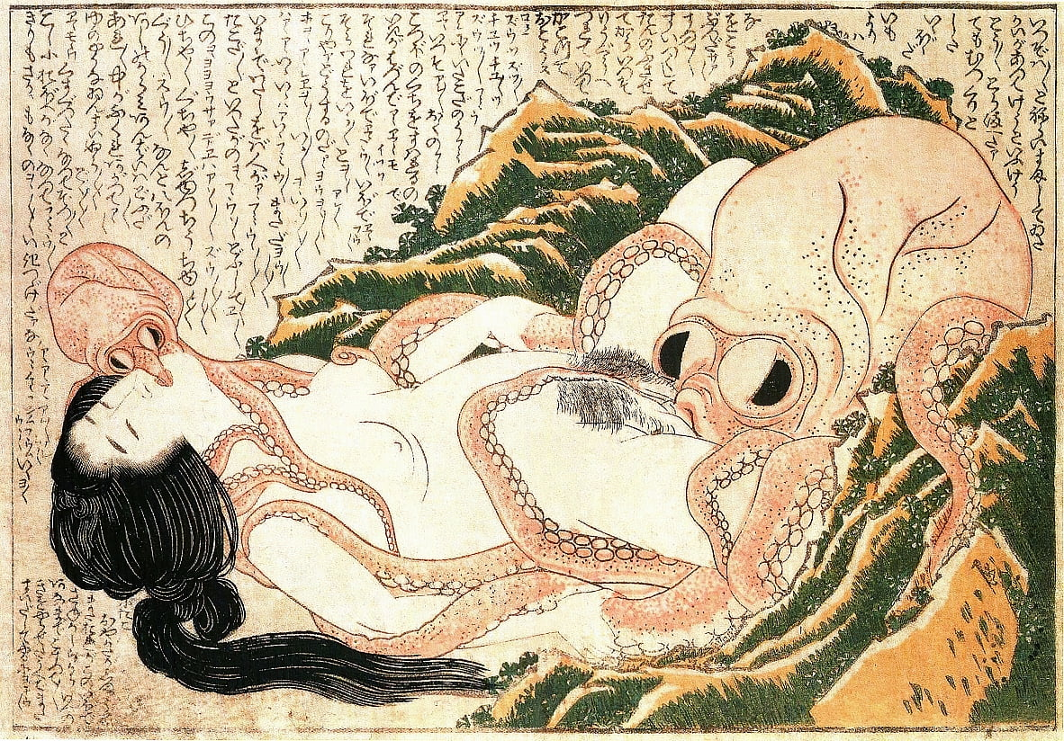 The Dream of the Fishermans Wife by Katsushika Hokusai