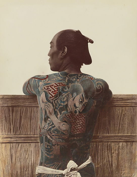 Japanese Tattoo, c.1880  by Kusakabe Kimbei