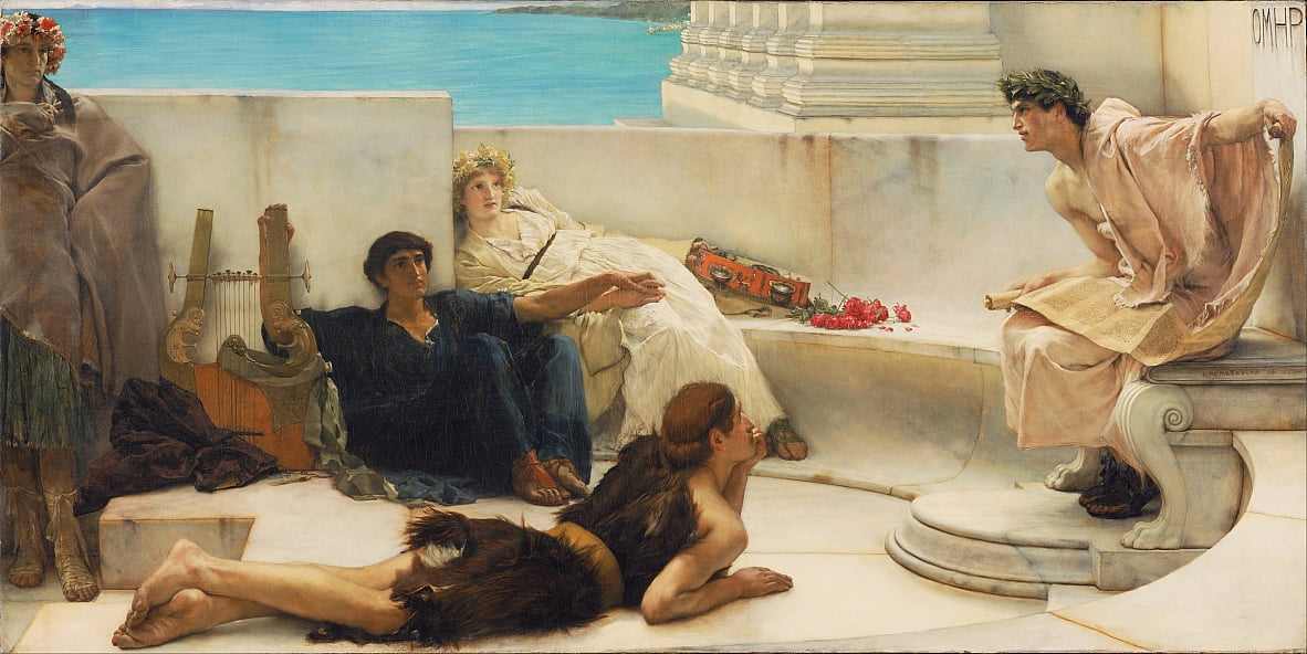 A Reading from Homer by Lawrence Alma Tadema