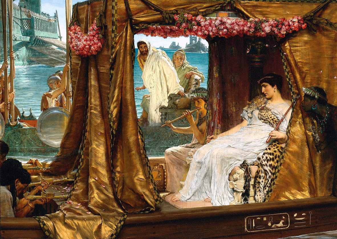 The Meeting of Antony and Cleopatra by Lawrence Alma-Tadema