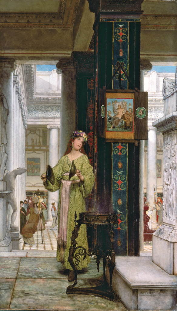In the Temple, 1871  by Lawrence Alma Tadema