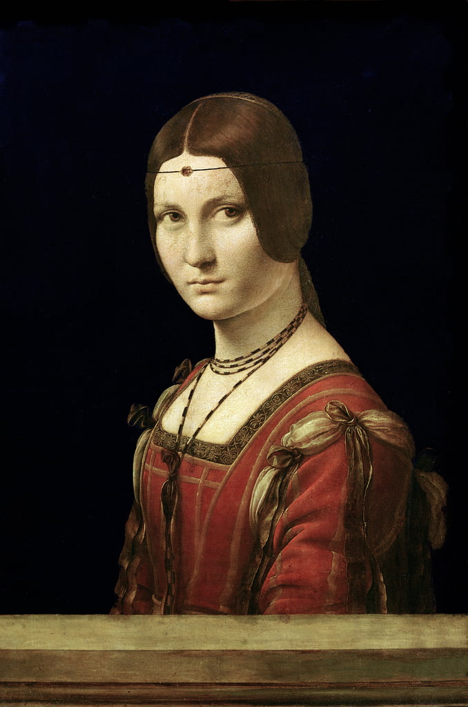 Portrait of a Lady from the Court of Milan, c.1490-95  by Leonardo da Vinci