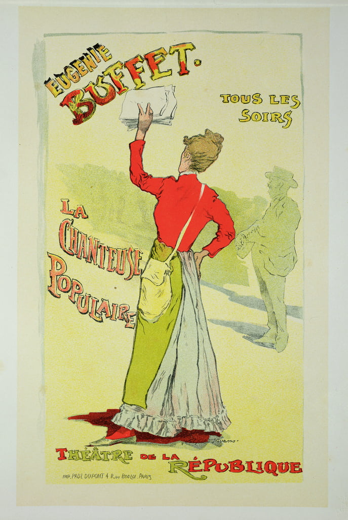 Reproduction of a poster advertising