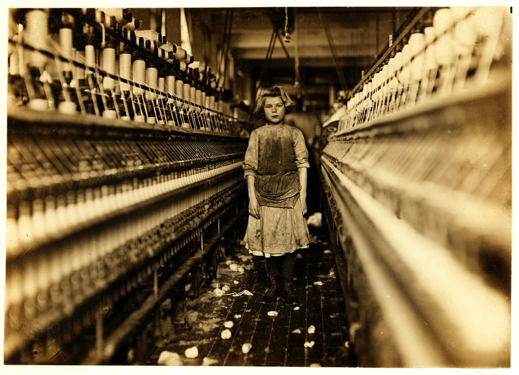 Spinner, Globe Cotton Mill, Augusta, Georgia, 1909  by Lewis Wickes Hine