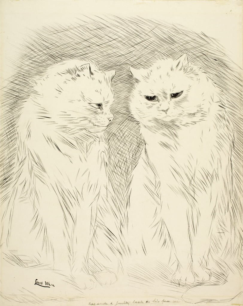 Pals  by Louis Wain