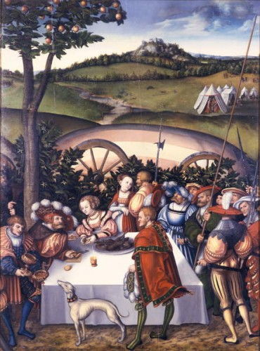 Judith at the Table of Holofernes, 1531  by Lucas Cranach the Elder