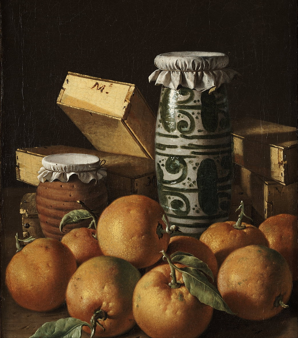 Still Life with Oranges, Jars, and Boxes of Sweets by Luis Egidio Melendez