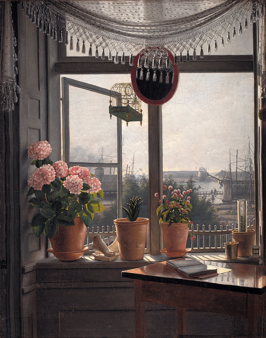 View from the Artists Window by Martinus Rørbye