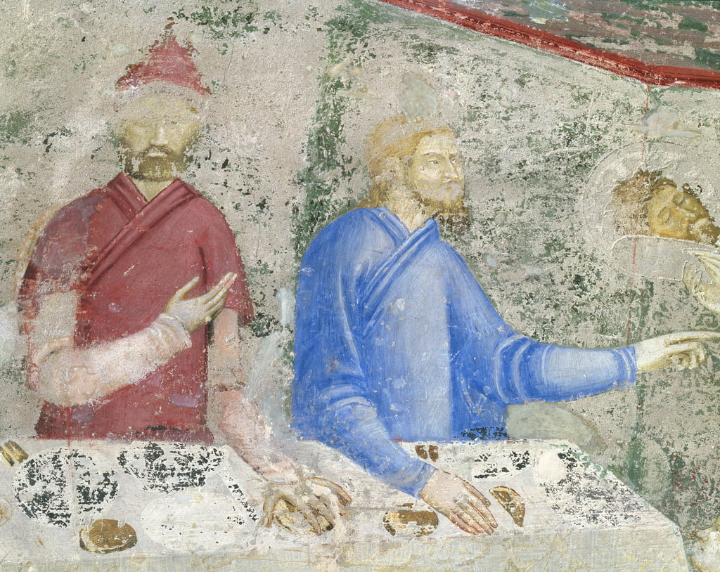 The Feast of Herod, detail from the chapel of St. Jean, 1347  (detail of 87131) by Matteo Giovanetti