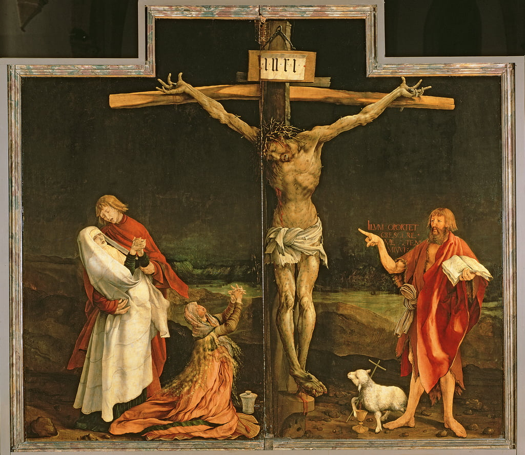 The Crucifixion, from the Isenheim Altarpiece, c.1512-15  by Matthias Grünewald