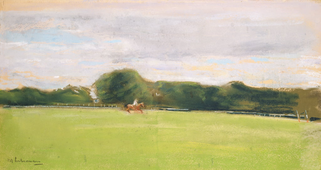 The Polo Field in Jenischs Park, 1902 (pastel on paper) by Max Liebermann