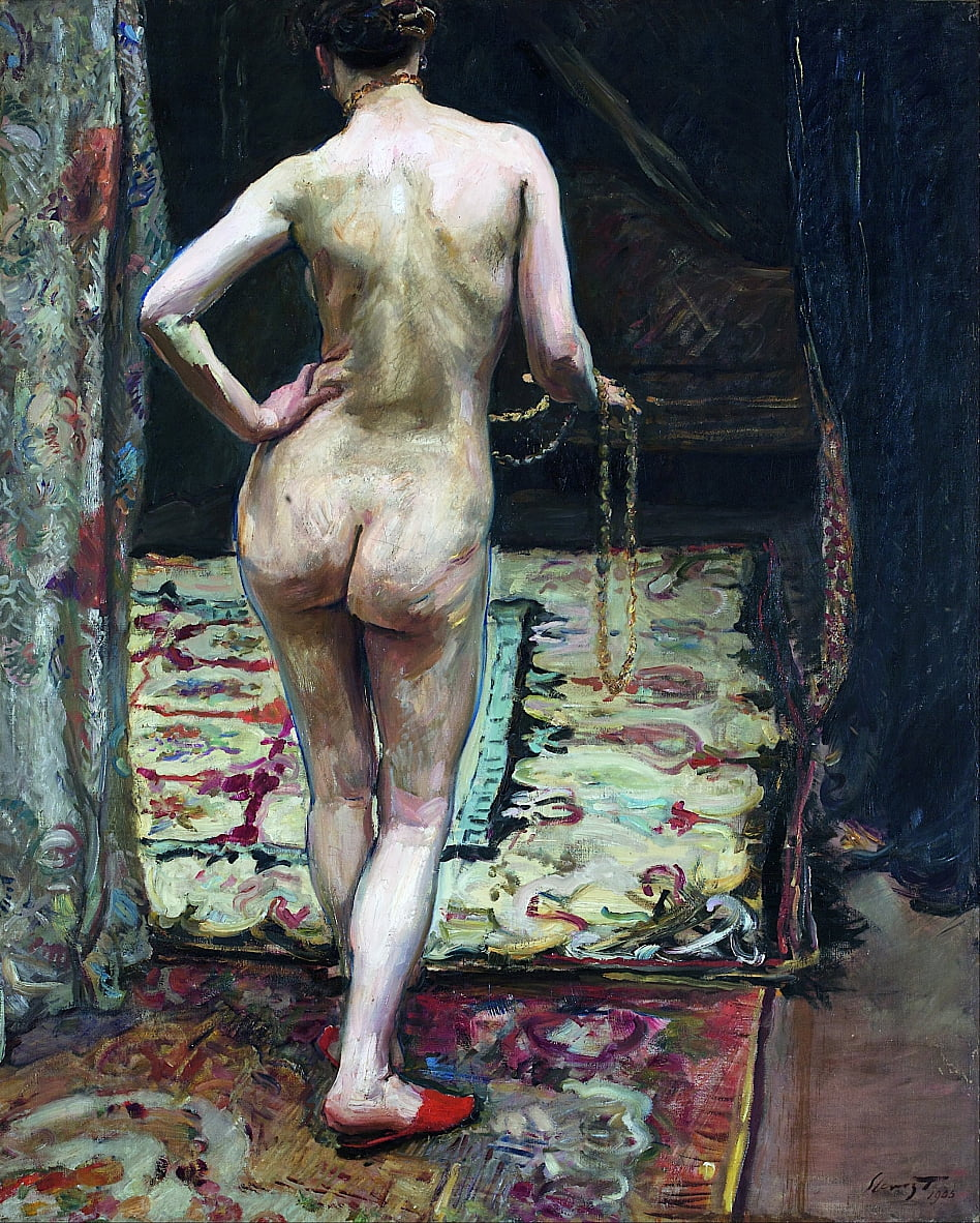 Female Nude from the Back by Max Slevogt