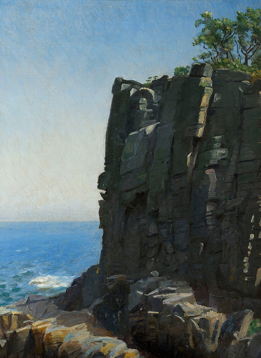 The Sanctuary Cliffs at Rø by Michael Peter Ancher