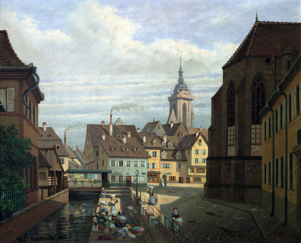 Place des Dominicains, Colmar, 1876  by Michel Hertrich