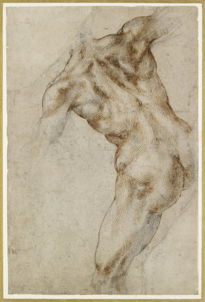 Nude male Torso by Michelangelo Buonarroti