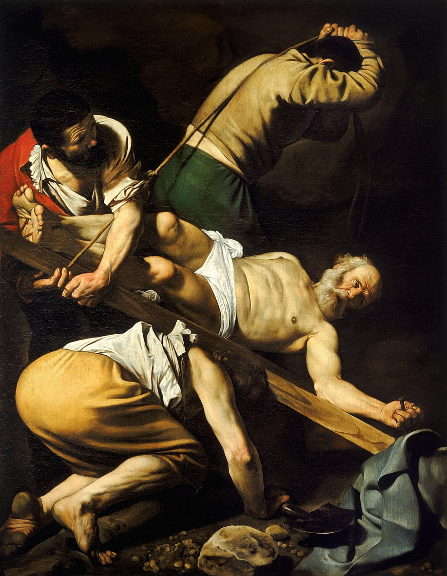 Crucifixion of Saint Peter by Michelangelo Merisi Caravaggio