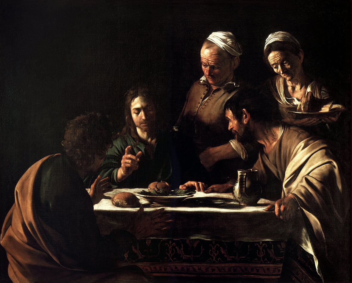 Supper at Emmaus by Michelangelo Merisi Caravaggio