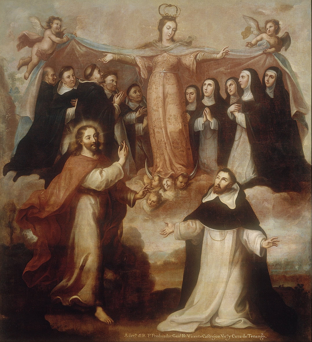 Allegory of the Virgin Patroness of the Dominicans by Miguel Cabrera
